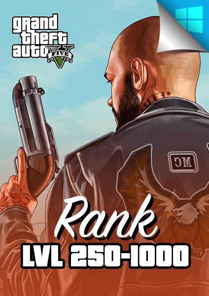 GTA V rank level 250 to 1000