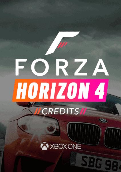 Forza Horizon 4 credits for Xbox One