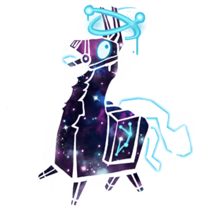 Fortnite Galaxy Llama Spray