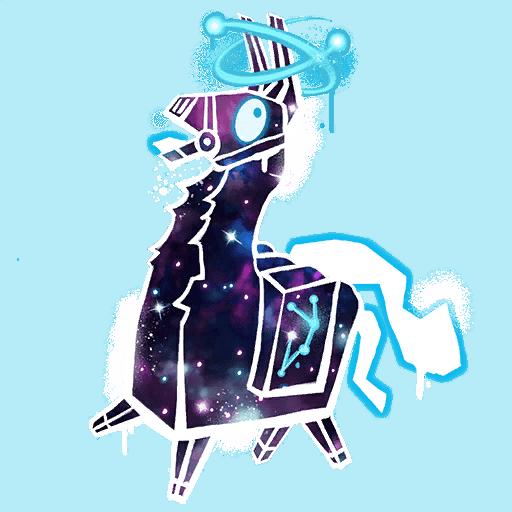 Fortnite Galaxy Llama Spray