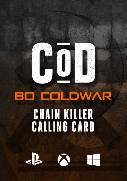 COD Black Ops Cold War Chain Killer Calling Card boosting lobby