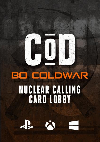COD Nuclear Calling Card boosting lobby