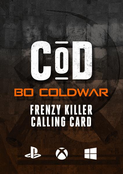 COD BO Cold War Frenzy Killer Calling Card
