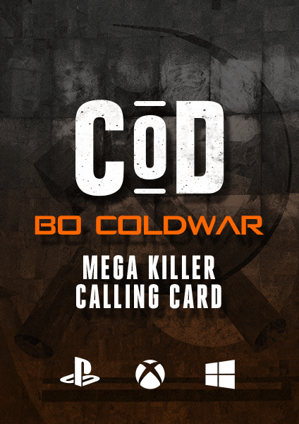 COD BO Cold War Mega Killer Calling Card