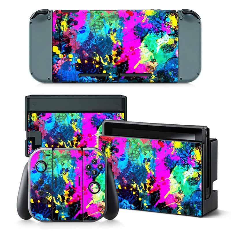 Paint splatter Nintendo Switch skin