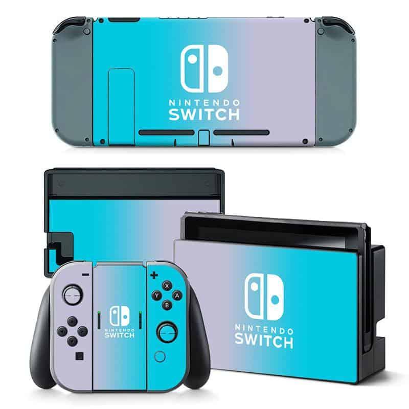 Blue shine Nintendo Switch skin